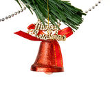Christmas bell and new year beads Royalty Free Stock Image