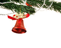 Christmas bell and new year beads Stock Images