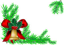 Christmas bell and new year tree Stock Photography