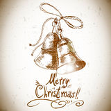 Christmas bell for retro design Stock Image