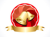 Christmas bell with ribbon Stock Photography