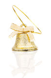 Christmas bell with ribbon Royalty Free Stock Photography