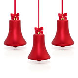 Christmas Bell Shaped Baubles Royalty Free Stock Photography