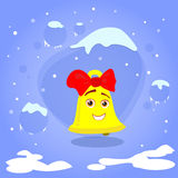 Christmas Bell Smile Cartoon Character Concept Royalty Free Stock Photos