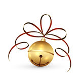 Christmas bell and tinsel Royalty Free Stock Images