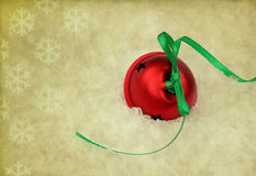 Christmas Bell on Vintage Background Stock Photos