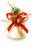 Christmas bell on white Stock Image