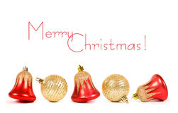 Free Christmas Bell With Red Ribbon Royalty Free Stock Images - 21873309
