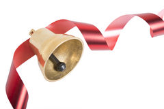 Free Christmas Bell With Red Ribbon Royalty Free Stock Images - 41088159