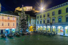 Christmas in Bellinzona Royalty Free Stock Photos