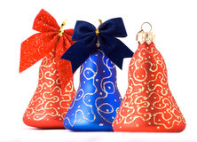 Christmas bells. On a white background Stock Image