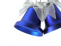Christmas bells. With bows close-up isolated over white background stock images