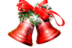 Christmas bells. On white background Stock Photos