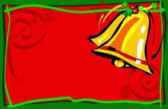 Christmas bells. Illustrated Christmas bells Stock Image