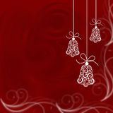 Christmas bells. Illustrated on a red background, christmas time Stock Photography