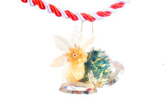 Christmas bells. Decoration on white background Royalty Free Stock Photo