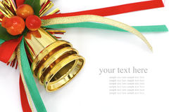 Christmas bells. With color ribbon Stock Images