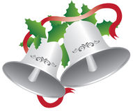 Christmas Bells. High resolution Illustration Vector of Xmas Bells for Holiday Season Stock Images