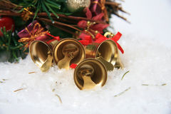 Christmas bells background Stock Photos