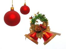 Christmas Bells. Christmas decorations royalty free stock image