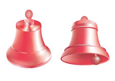 Christmas_bells. Red Christmas vector bells on a white background Stock Photo