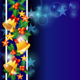 Christmas Bells And Holly Royalty Free Stock Images