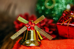 Christmas bells background Royalty Free Stock Images