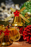 Christmas bells background Stock Photography