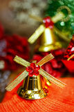Christmas bells background Stock Images