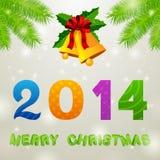 Christmas Bells 2014 Background. Illustration Stock Image