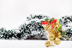 Christmas bells and balls decor Stock Image