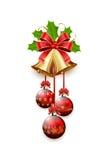 Christmas bells and balls Royalty Free Stock Image