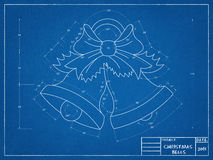 Christmas Bells Blueprint Royalty Free Stock Photo