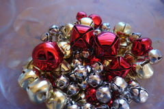 Christmas bells, blur. Royalty Free Stock Photos
