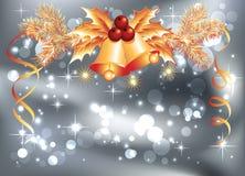 Christmas bells and bokeh Stock Image