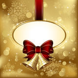 Christmas bells with bow Stock Image