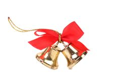 Christmas Bells and bow Royalty Free Stock Photography