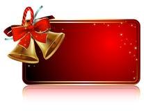 Christmas bells card Royalty Free Stock Image