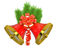 Christmas bells with christmas tree Stock Photo