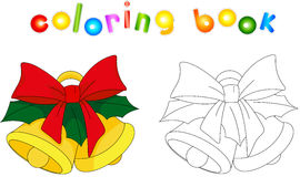 Christmas bells. Coloring book for kids Royalty Free Stock Photo