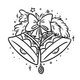 Christmas Bells coloring page Royalty Free Stock Image