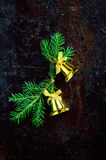 Christmas bells dark background Royalty Free Stock Image