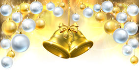 Christmas Bells Decorations Background Stock Photography