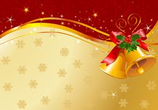 Christmas bells design Stock Images