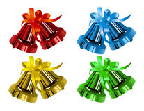 Christmas_bells_different_colors Royalty Free Stock Photography
