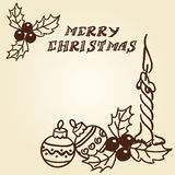 Christmas bells doodles Stock Images