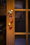 Christmas bells on door Royalty Free Stock Photos