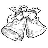 Christmas bells drawing Royalty Free Stock Photo