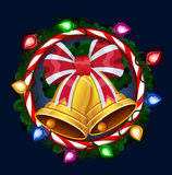 Christmas bells in frame Royalty Free Stock Image