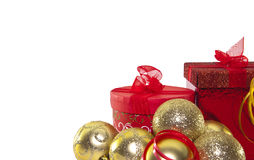 Christmas Bells  and gift Boxes Royalty Free Stock Image